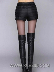 Designer Women Fashion Winter Warm Feather Down Short Pants Wholesale