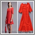 New Dress Design Women Red Party Dress