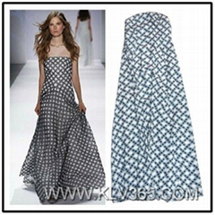 Hot Sale Women Fashion clothing Off Shoulder Long Evening  dress