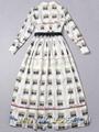 Designer Women Clothing Full Length Dress Printed Long Party Prom Dress 2