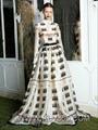 Designer Women Clothing Full Length Dress Printed Long Party Prom Dress 4