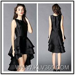 Women Black High Low cocktail Dress