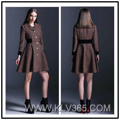 Designer Women Wool Winter Coat Style Dress - 14112463 (China