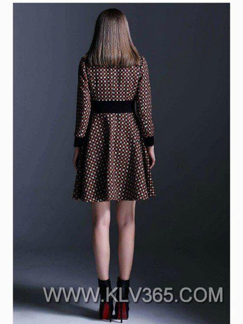 High Quality Clothes Designer Women Winter Wool Knee Length Coat Style Dress 14112463 China