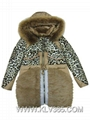 Women Fashion Winter Leopard Duck Down
