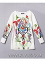 Women Floral Printed casual Cotton Long Top and Blouse
