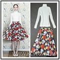 Designer Women 2pieces Flower Skirt Set