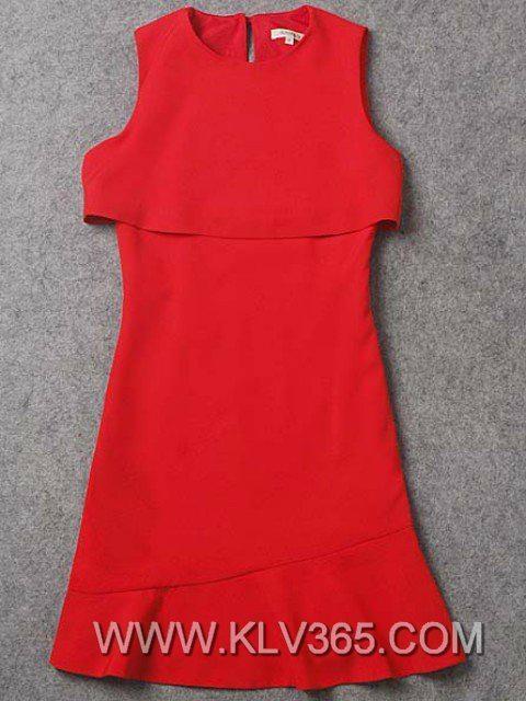 designer women fashion dress red elegant party dress 4