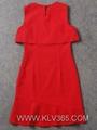 designer women fashion dress red elegant party dress 2