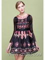 Spring Fashion Women Silk floral Celebrity Party Dress 3