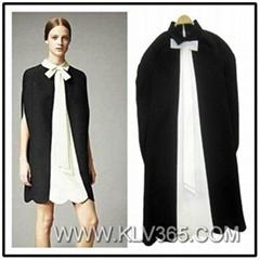 European Design Women Fashion Colorblock Stylish Cape Dress