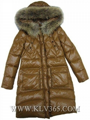 Wholesale Fashion Design Women Winter Down Jacket With Fur Collar