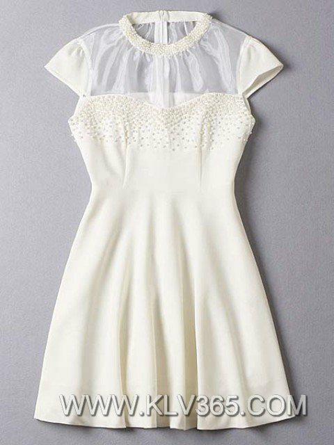Designer Women's Wedding Party Dress See Through Cocktail Dress Wholesale  2
