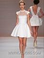 Designer Women's Wedding Party Dress See Through Cocktail Dress Wholesale  4
