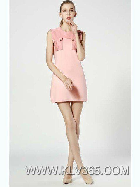 Women Designer Dress Wholesale Pink Simple Casual Dress - 15032301 ...