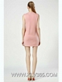 Women Designer Dress Wholesale Pink Simple Sleeveless Party Dress