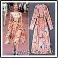 Designer Fashion Dress Long Sleeve Maxi