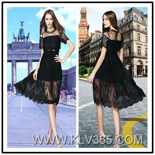 Latest Dress Design Women Fashion Lace Party dress  1