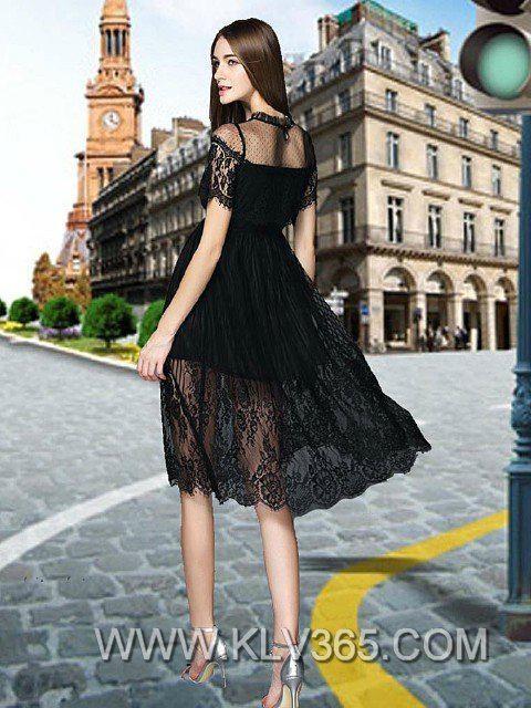 Latest Dress Design Women Fashion Lace Party dress  2