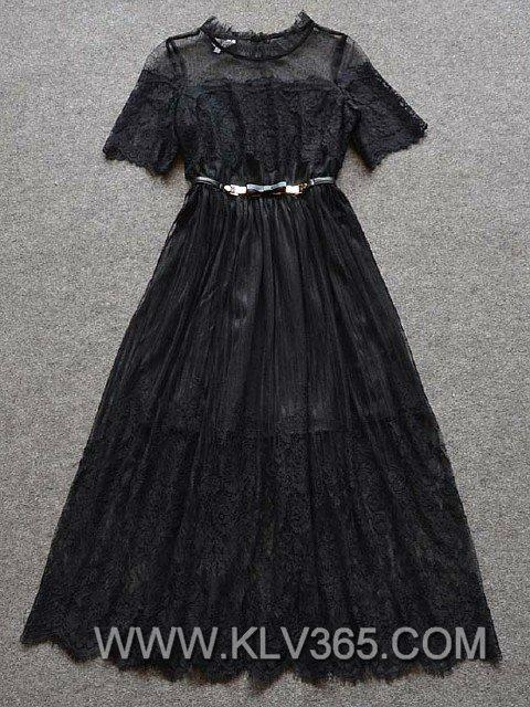 Latest Dress Design Women Fashion Lace Party dress  3