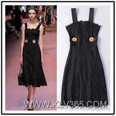 European Style Women Lace Long Maxi Dress