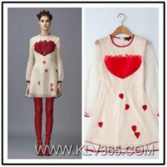 High Quality Designer Clothing Fashion Chiffon Silk Embroidered Summer Dress