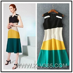 Wholesale Women Clothing Designer Fashion Sleeveless Summer Dress