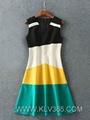 Wholesale Women Clothing Designer Fashion Sleeveless Summer Dress