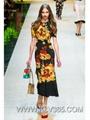 Wholesale Designer Clothes Women  Floral Print Long Party Dress
