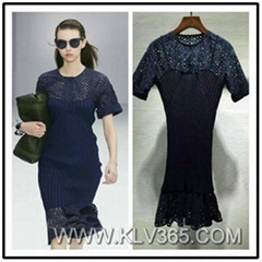 New Fashion Designer Women Fitted Jersey Dress Party Cocktail Dress Wholesale
