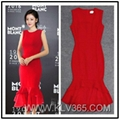 New Fashion Dress Design Elegant Ladies Red Mermaid Evening Dress