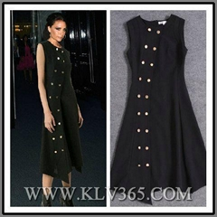 High Quality Fashion Clothing Designer Women Sleeveless Long Party Dress