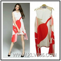 Women Fashion Summer Sleeveless Plus Big Size Casual Dress China Online Supplier
