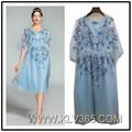 European Summer Fashion Dress Hot Sale Sleeveless Floral Printed Dress