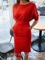 Women's Fashion Design Red Celebrity Bandage Bodycon Dress Wholesale