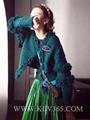 Designer Women Fashion Winter Knitted Wool Cashmere Sweater Cardigan Outerwear