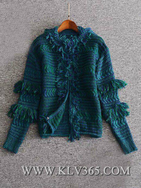 Designer Women Fashion Winter Knitted Wool Cashmere Sweater Cardigan Outerwear  4