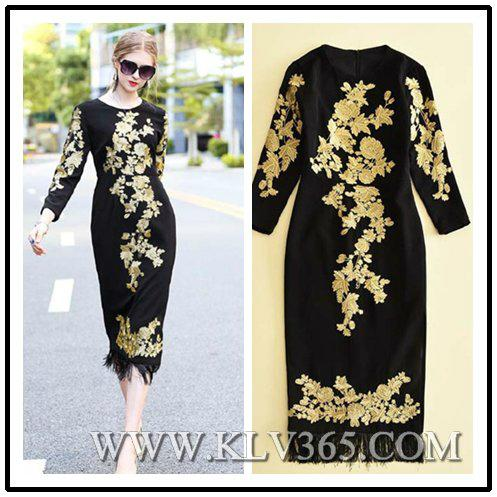 Latest Dress Design Women Fashion Embroidery Long Party Prom Dress 1