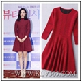 European Fashion Design Women Red