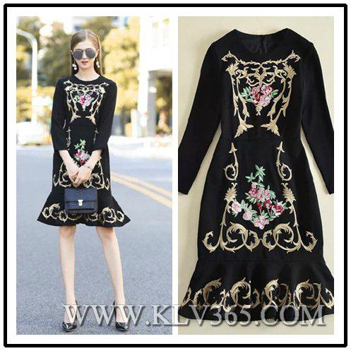 Latest fashion dress design women embroidered party prom dress china wholesale 17102050 china Style house fashion trading company uae