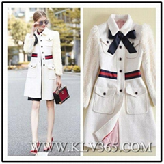 New Designer Women Fashion Winter  Wool Long Jacket