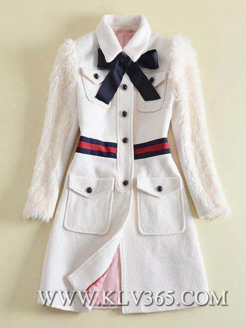 New Designer Women Fashion Winter  Wool Long Jacket 3