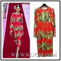Designer Women Fashion Red Printed Long