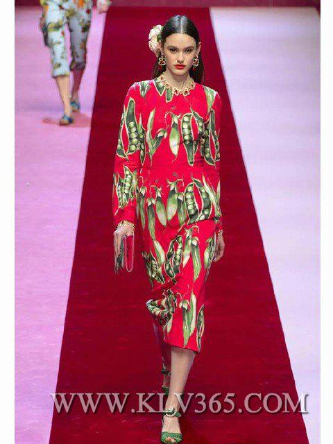 Designer Women Fashion Red Printed Long Celebrity Party Dress China Online 2