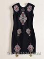 Women Fashion Summer  Beaded Sleeveless Casual Dress 3