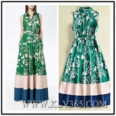 High Quality Women Clothes Fashion Sleeveless Summer Long Casual Dress