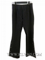 European Style Office Ladies Fashion Striped Long Flared Pants