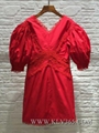 Wholesale Women Brand Fashion Clothing Red Celebrity Festive Party Dress