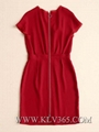 High Quality Designer Clothing Women Fashion Red Sexy Party Dress