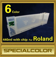Refillable ink cartridge with chip for Roland Printer